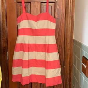Barely worn pink and cream colored dress